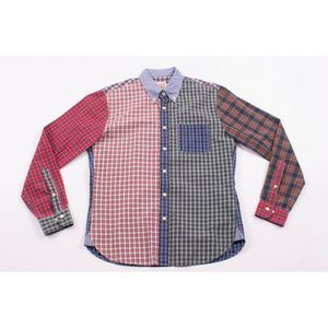 Brooks Brothers Red Fleece Plaid Patch Quilt Shirt